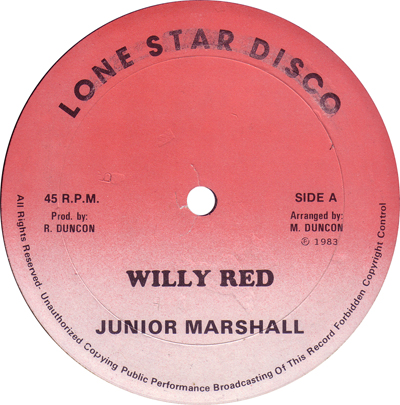 Junior Marshall - Willy Red