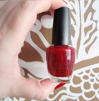 OPI-Quarter Of A Cent-Cherry, rött nagellack