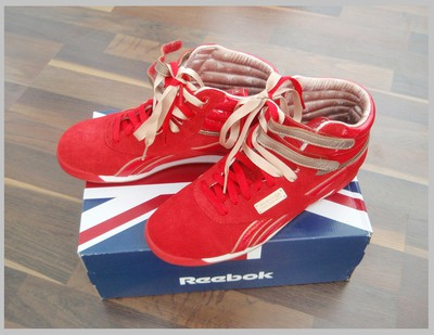 Reebok High Top Red and Champagne