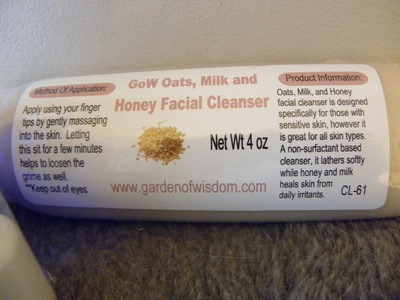 Garden Of Wisdom - Oats, Milk and Honey Facial Cleanser