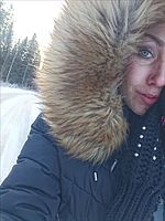 Snöig morgonpromenad