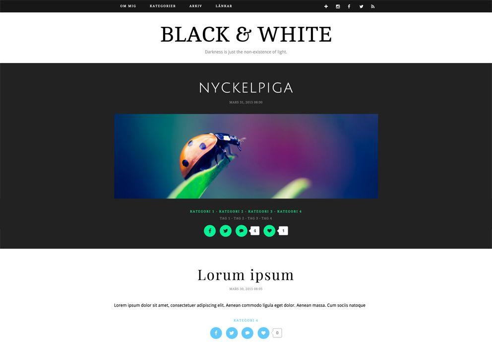 Black & White - browser